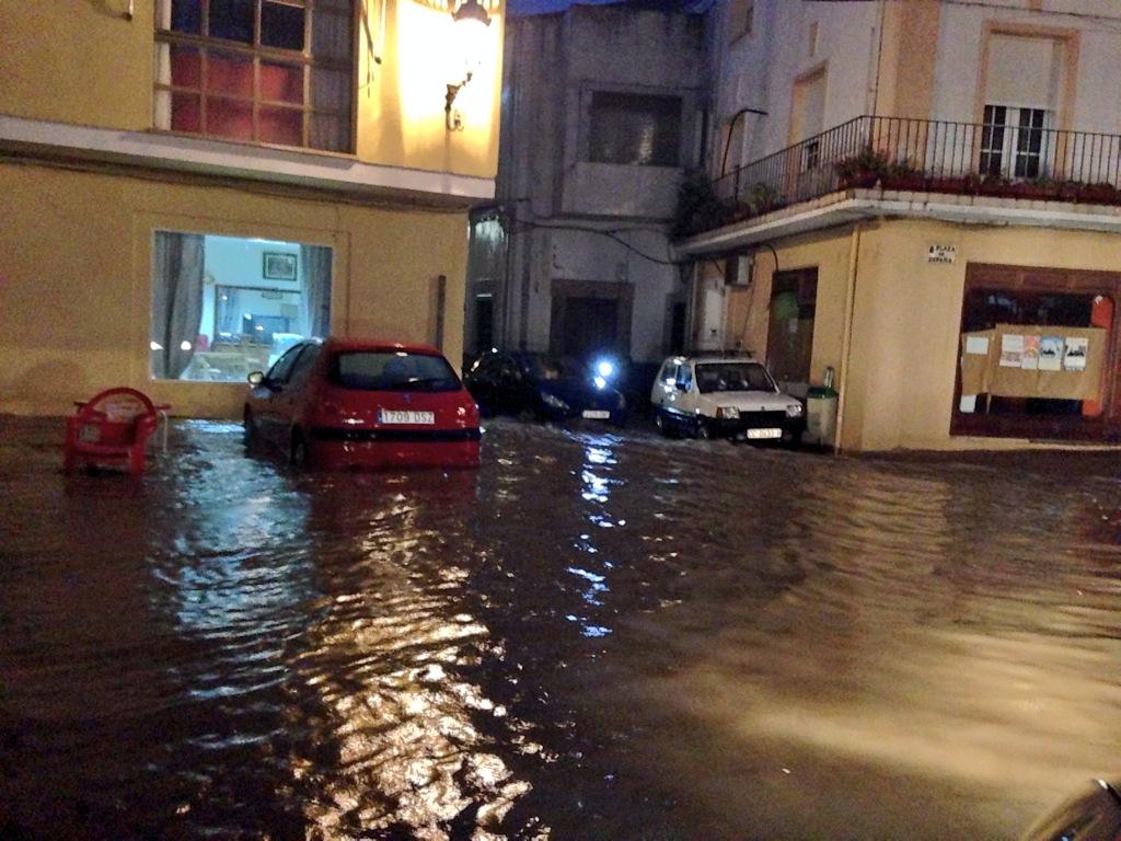Daños por la intensa lluvia. Fotos Cedidas